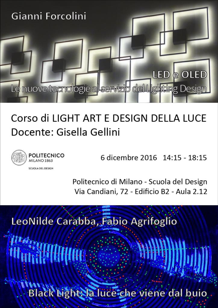 Light Art e Design della Luce, Politecnico di Milano